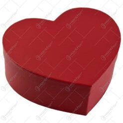 Set 2 cutii cadou in forma de inima - Rosu