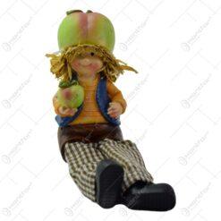 Pereche de figurine decorativa realizata din ceramica cu picioare din textil (Model 7)