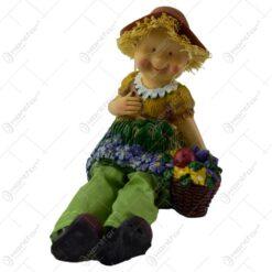 Pereche de figurine decorativa din ceramica cu picioare din textil(Model 8)