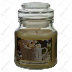 Lumanare parfumata in borcan de Craciun - Christmas Marshmallows