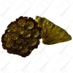 Set 6 flori naturale uscate si decorate cu glitter - Floare de Lotus - Diferite culori
