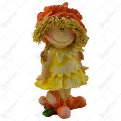 Figurina copil decorativ realizata din ceramica - Zana Florilor