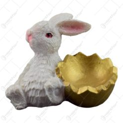 Figurina iepuras de Paste din rasina - Iepuras cu ou