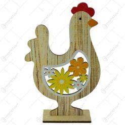 Figurina decorativa de Paste - Gaina realizata din lemn