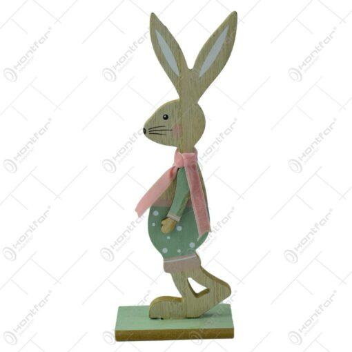 Figurina iepuras de Paste realizata din lemn