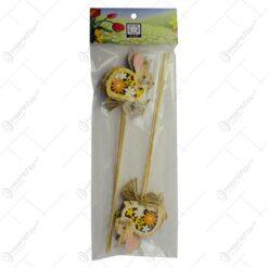 Set 6 decoratiuni pe bat pentru Pasti - Iepuras