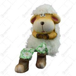 Figurina miel de Paste realizata din ceramica cu picioare din textil - Miel - 2 modele