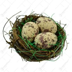 Set decorativ pentru Pasti - Cuib cu oua