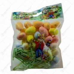 Set mini-oua colorate pentru Pasti - Multicolor (Model 1)