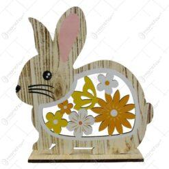Figurina decorativa pentru Paste realizata din lemn - Iepuras