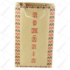 """Punga pentru cadouri - Design traditional cu inscriptia """"Romania"""" (Model 2)"""