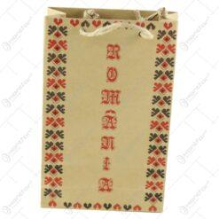 """Punga pentru cadouri - Design traditional cu inscriptia """"Romania"""" (Model 3)"""