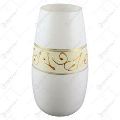 Vaza realizata din sticla - Design cu frunze aurii