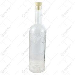 Sticla pentru vin cu dop de cauciuc - Design cu struguri