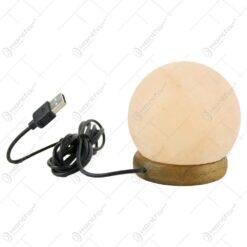 Lampa USB din cristale de sare in forma de glob