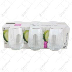 Set 6 pahare realizate din sticla pentru bauturi (Model 1)