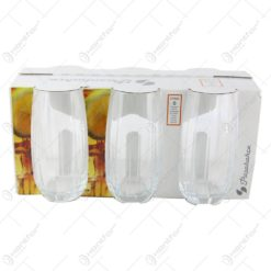 Set 6 pahare realizate din sticla pentru bauturi (Model 2)