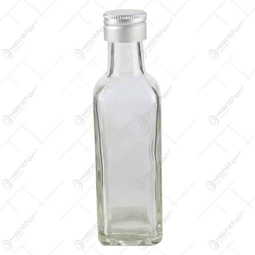 Sticla mica pentru bauturi cu dop de metal