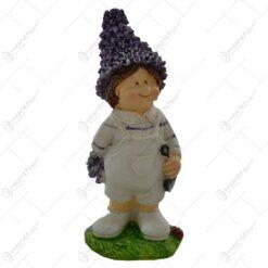 Pereche de figurine copii lavanda din rasina 11 CM