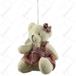 Ursulet din plus cu papion/rochita (Model 1)