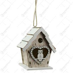 Decoratiune Casuta pentru pasari din lemn