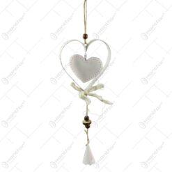 Decoratiune inima dubla din metal