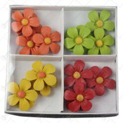 Set 16 flori colorate cu magnet - Margarete