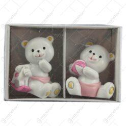 Set 2 figurine ursuleti jucausi roz