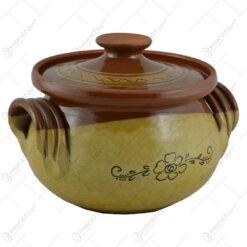 Oala pentru sarmale din ceramica cu capac 1