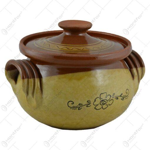 Oala pentru sarmale cu capa din ceramica 1