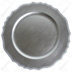 Platou realizat din material plastic - Argintiu ( 33cm )