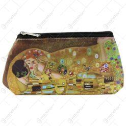 Geanta cosmetica Gustav Klimt Sarutul