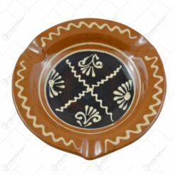 Scrumiera traditionala realizata din ceramica 13 CM