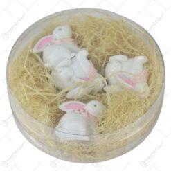 Set 4 figurine iepurasi cu oua