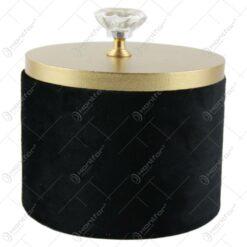 Cutie lemn pentru bijuterii cu plus negru