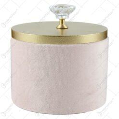 Cutie lemn pentru bijuterii cu plus roz