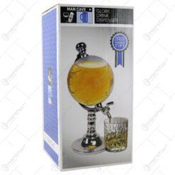 Dozator pentru bere in forma de glob pamantesc cu robinet