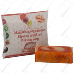 Sapun handmade cu argila roz - 70 gr