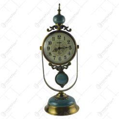 Ceas de masa lux din metal si marmura 48 CM