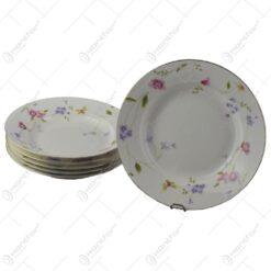 Set 6 farfurii adanci din ceramica 23 CM