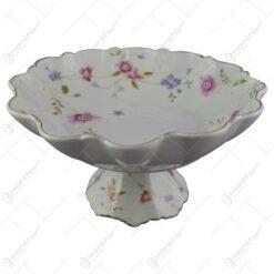 Fructiera din ceramica cu motive florale 25 CM