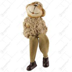 Figurina miel cu din ceramica cu picioare din textil