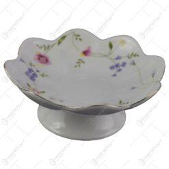 Fructiera din ceramica cu motive florale 15 CM