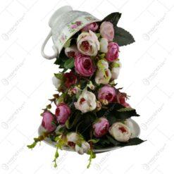 Ornament ceasca cu trandafiri 26x17 CM