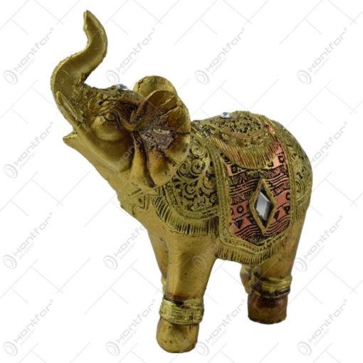 Figurina elefant din rasina aurie 10 cm