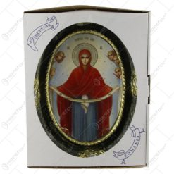 Plachet ipsos oval Isus/Sfanta Maria cu pruncul