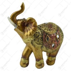Figurina elefant din rasina aurie 12 cm
