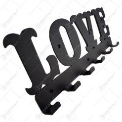 Suport pentru chei din metal Love 44x15 CM