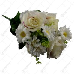 Buchet artificial de margarete si trandafiri 40 CM