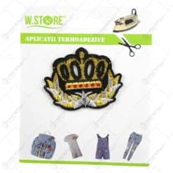 Ornament textil termoadeziv pentru materiale textile - Coroana Regeasca